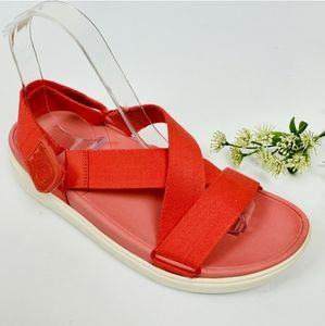 FITFLOP Classic Sling Canvas Sandal Hibiscus Red